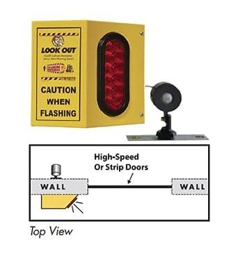 Forklift Sensor, Overhead Door Warning System, 1 Box, 1 Light, 1 Remote