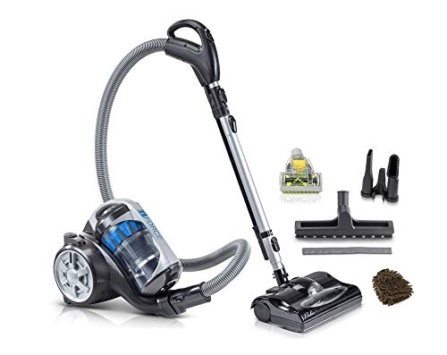 iForce Prolux Light Weight Bagless Canister Vacuum, Power Nozzle, HEPA (Complete Set) w/Bonus: Premium Microfiber Cleaner Bundle