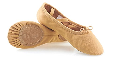 XW WX Zapatos de baile para adultos Zapatos de baile Zapatos de garra de gato Zapatos de verano Zapatos de ballet Chica Danza nacional suave Parte inferior 33-43 khaki