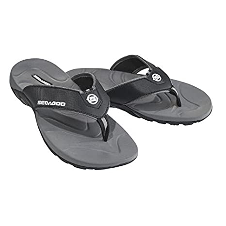 6e2cc5beda6575 Amazon.com   BRP Sea-Doo Fashionable Lightweight Black Flip-Flop ...