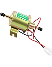Cyleto Electric Fuel Pump Inline Fuel Transfer Pump 12v Universal Low Pressure Gas Diesel Fuel Pump For Carburetor Lawn Mower Gas Diesel Engine 2.5-4psi HEP-02A