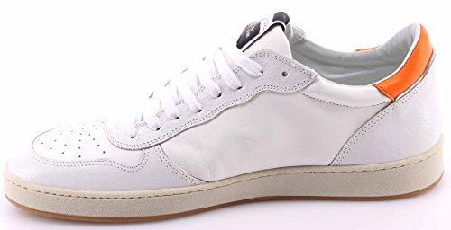 Chaussures Sneakers Hommes PHILIPPE MODEL Lakers Low Veau White Orange Italy New
