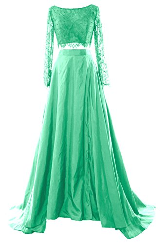Formal Evening Long Maxi Piece Women Minze Dress Lace 2017 Sleeve 2 MACloth Prom Gown PAqvYY