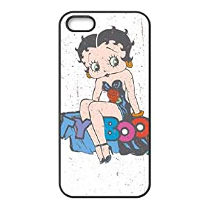iPhone 4 4s Cell Phone Case Black Betty Boop Splatter LSO7694388
