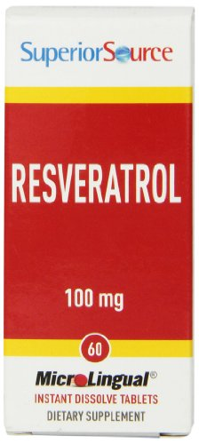 Superior Source Resveratrol Nutritional Supplements, 100 mg, 60 Count (Best Source Of Resveratrol)