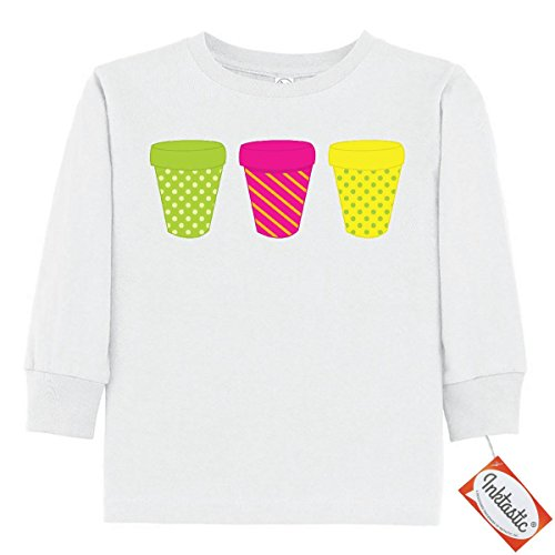 Price comparison product image Inktastic Little Girls' Planters Toddler Long Sleeve T-Shirts 2T White