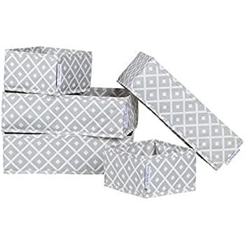South Shore Storit Diamonds Canvas Drawer Organizers with Pattern (5 Pack)