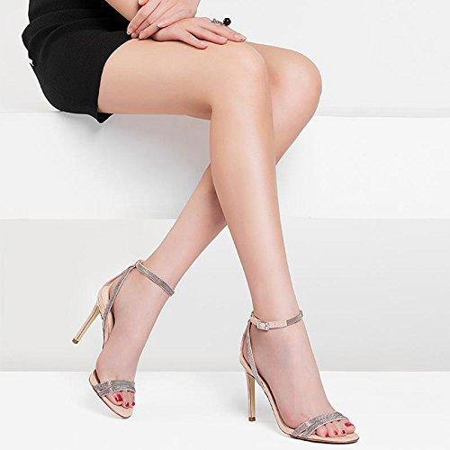 Un Albicocca Sexy Donna E Estate Colore Paio E Alto JIANXIN In Delle Sandali Tacco 39 Donna Scarpe dimensioni Sandali Da Di Con Dermica Da Pelle xwwBO