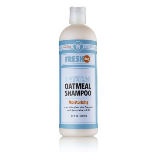 Fresh Dog Natural Oatmeal Shampoo for Dry Skin and Coat, 17-Ounce