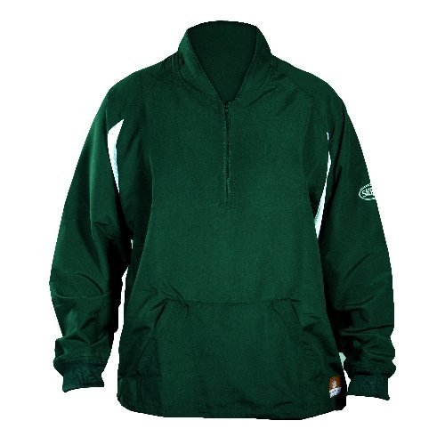 GSM Outdoors LS1432-A-FG-XL Louisville Adult Slugger Batting Cage Pull-Over Long Sleeve, X-Large, Forest Green