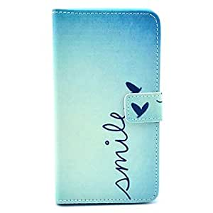 PEACH Smile Word with Heart Pattern PU Leather Full Body Case for Samsung Note3 N9000