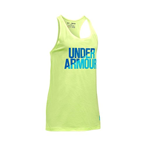 Under Armour Girls' Under Armour Tank, Pale Moonlight/Mediterranean, Youth Small
