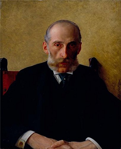 High Quality Polyster Canvas ,the Vivid Art Decorative Canvas Prints Of Oil Painting 'Portrait Of Isidor Gewitsch,c. 1900 By Isidor Kaufmann', 12x15 Inch / 30x37 Cm Is Best For Home Office Decor And Home Decor And Gifts