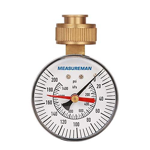"""MEASUREMAN 2-1/2"""" Water Pressure Test Gauge"""