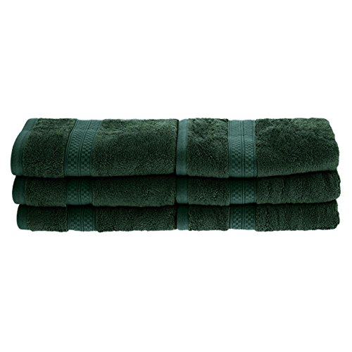 (Blue Nile Mills 6-Piece Hand Towel Set, Soft Rayon from Bamboo, Quick Dry, Hunter Green )