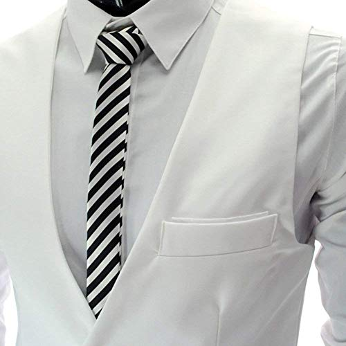 Unita Senza Giacca V Casual A Taglie Bianca Da Slim Formale Sleeveless Monopetto Tinta Uomo Con Fit Abiti Vest Maniche Comode Scollo Tuta a8qvU0xU