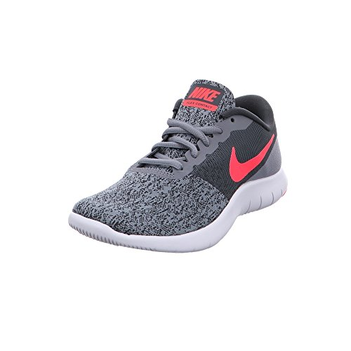 NIKE Womens Flex Contact Shoes Cool Grey Solar RED Anthracite Size 6