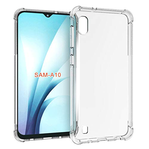 Samsung Galaxy A10 Case, PUSHIMEI Soft TPU Crystal Transparent Slim Anti Slip Full-Body Protective Phone Case Cover for Samsung Galaxy A10 (Clear Anti-Shock TPU)