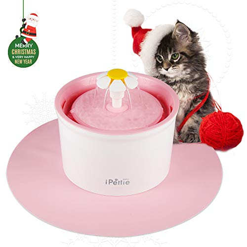 Cheap IPETTIE Neko NR2 Pet Drinking Water Fountain, 1.6L with Super Quiet Pump and Replaceable Filter, Healthy & Clean Pet Water Dispenser, Color Baby Pink