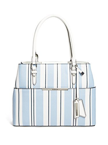 Blue Striped Messenger Bag - GUESS Factory Women's Foxwood Large Striped Satchel