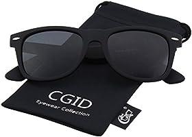 CGID Classic Eyewear 80's Retro Large Horn Rimmed Style UV400 Wayfarer Sunglasses
