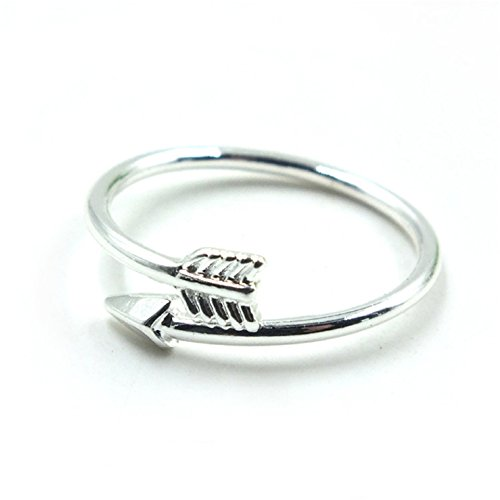 Fullkang Lady Girl Attractive Alloy Double Arrow Ring Finger Rings Xmas Gift