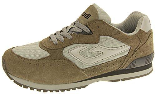 Trainer Studio Sneaker Pelle Gaudi Footwear Grigio Uomo Nnmw08