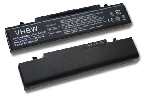 vhbw Li-Ion Akku 4400mAh (11.1V) schwarz für Notebook Laptop Samsung 300E5A, 300E5C, 300E7A, 300V4A, 305E7A wie AA-PB9NC6B, AA-PB9NC6W.