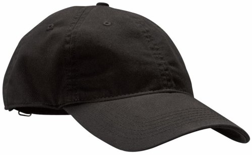 econscious 100% Organic Cotton Twill Adjustable Baseball Hat (Black)