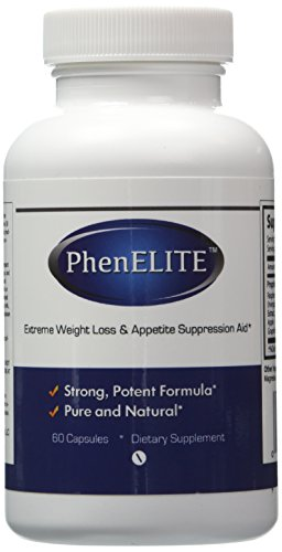PhenELITE - HIGHEST Rated Pharmaceutical Grade Weight Loss Diet Pills - Fast Weight Loss, Hyper-Metabolising Fat Burner and Appetite Suppressor - AIDS IN WEIGHTLOSS! by PhenELITE