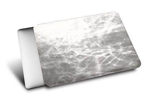 Lucrin - Schutzhülle für MacBook 12 Zoll - Silber - Glänzendes Leder Silber lxUWH