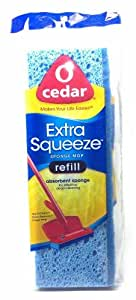 O Cedar Extra Squeeze Sponge Mop Refill Absorbant Sponge for Effective Cleaning (2 Each)
