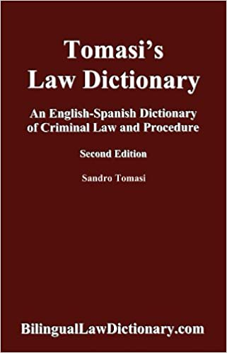 Amazon An English Spanish Dictionary Of Criminal Law And