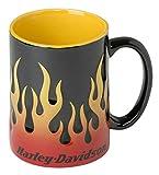 Harley-Davidson Core Sculpted Flames Coffee Mug, 15 oz. - Black...