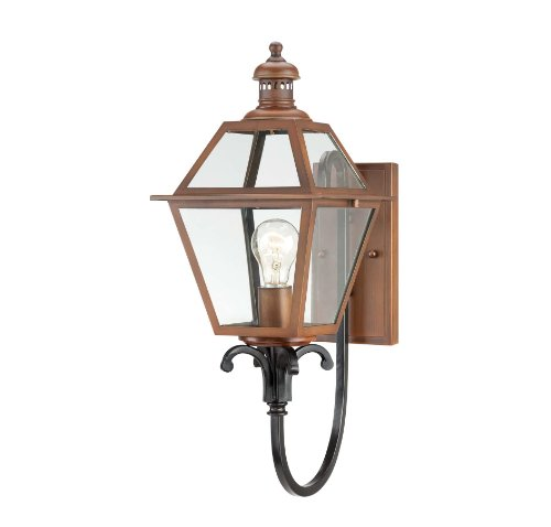 Savoy House 5-2110-153 Outdoor Sconce with Clear Shades, Aged Copper Finish