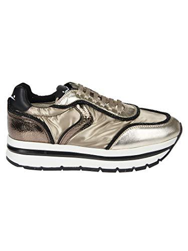 Voile Oro Sneakers Donna Pelle 0012012883019105 Blanche 6qAPw6v