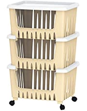 Cosmoplast 3 Drawer Multipurpose Storage Rack - Ivory