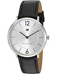 Tommy Hilfiger Mens Sophisticated Sport Quartz Stainless Steel and Leather Casual Watch, Color:Black (Model...