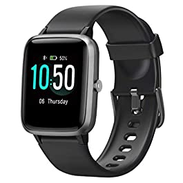 YAMAY Fitness Tracker Heart Rate Monitor Watches for Men Women,Fitness Watch IP68 Waterproof Digital Watch with Step Sleep Tracker Call Message Alerts,Smartwatch Compatible iPhone Android Phones