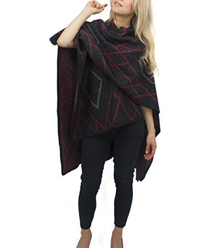 jessica-mcclintock-diamond-cape-ruana-wrap-shawl-pashmina-poncho-black