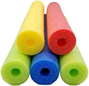 Fix Find - Pool Noodles - 5 Pack of Large 52 Inch Hollow Foam Pool Swim Noodles | Multi-Colored Foam Noodles
