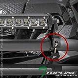 Topline Autopart Universal Texture Black 2' Aluminum Tube Light Lamp Mount Brackets Kit Bar Clamps FRC Off Road Truck Crossover Pickup SUV Van ATV