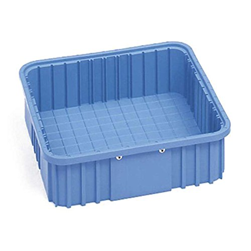 Dissipative Stackable Divider Tote Box, Blue, 9-3/16 x 6-9/16 x 3