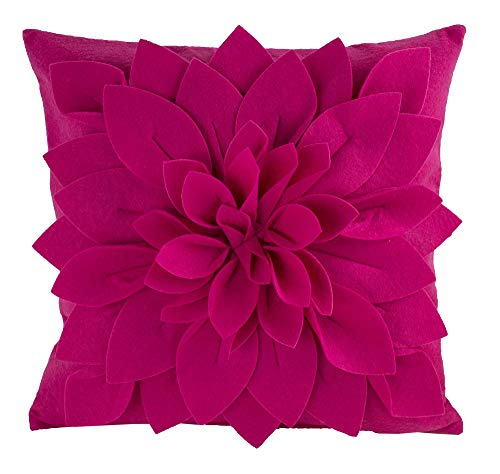 - fenncostyles.com Sara's Garden Petal Decorative Throw Pillow. 17 Inch Square (Fuchsia, Case Only)