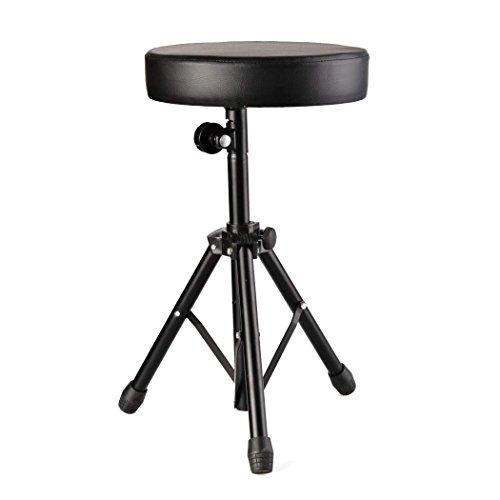 Review Lantusi Drum Throne Rotatable Metal Drum Seat Professional Drum Stool for Kids&Adult(US STOCK)