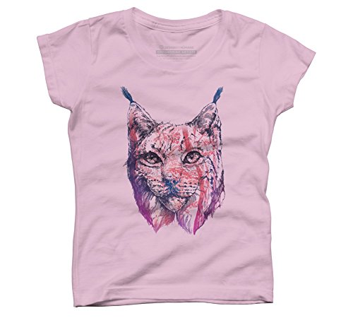 Lynx Girl's Small Pink Youth Graphic T Shirt - Design By ()