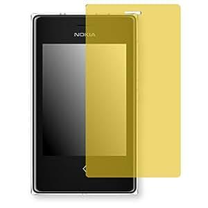 Lámina de protección Golebo amarillo contra miradas laterales para Nokia Asha 503 Dual SIM - PREMIUM QUALITY