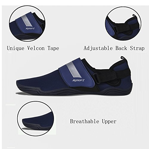 Exercise Shoes Dry Women Quick Men Lauwodun Sock Running Water Barefoot Surfing for Beach 2 Blue Aqua Yoga YF1nqwdw6x