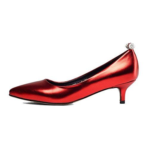 Rosso Ballet VogueZone009 Tessuto Flats Perla Donna Puro Tirare awqxO0wv