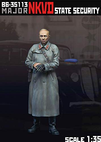 Scale Resin Figures - Bravo6 1/35 Scale Resin Unpainted Figure of Major NKVD State Security - B635113